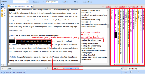 line by line word to nvivo 10 2